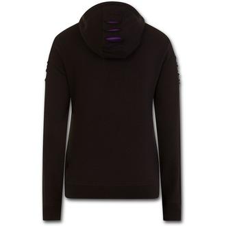 mikina dámská SPIRAL - WOLF ROSES - Purple-Black, SPIRAL
