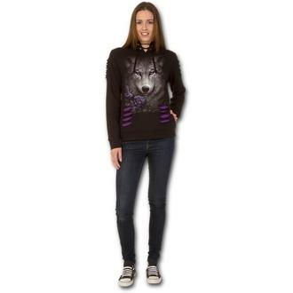 mikina dámská SPIRAL - WOLF ROSES - Purple-Black