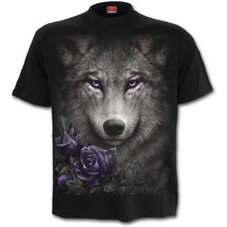tričko pánské SPIRAL - WOLF ROSES - Black - T150M121