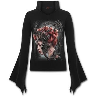 tričko dámské s dlouhým rukávem SPIRAL - QUEEN OF THE NIGHT - Black, SPIRAL