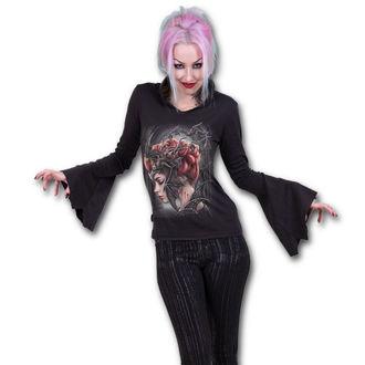 tričko dámské s dlouhým rukávem SPIRAL - QUEEN OF THE NIGHT - Black - T154F422