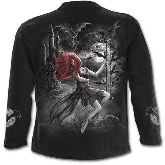 tričko pánské s dlouhým rukávem SPIRAL - QUEEN OF THE NIGHT - Black, SPIRAL