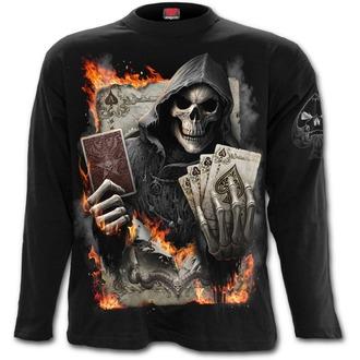 tričko pánské s dlouhým rukávem SPIRAL - ACE REAPER - Black, SPIRAL