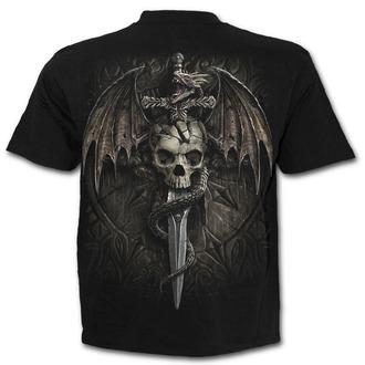 tričko pánské SPIRAL - DRACO SKULL - Black, SPIRAL