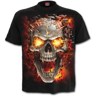 tričko pánské SPIRAL - SKULL BLAST - Black - T152M101