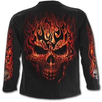 tričko pánské s dlouhým rukávem SPIRAL - SKULL BLAST - Black, SPIRAL