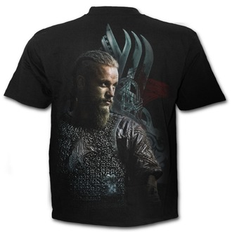 tričko pánské SPIRAL - RAGNAR FACE - Vikings - Black, SPIRAL