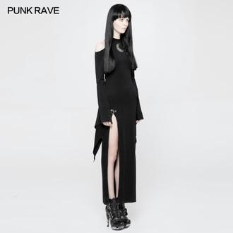 šaty dámské PUNK RAVE - Lunaria long Gothic, PUNK RAVE