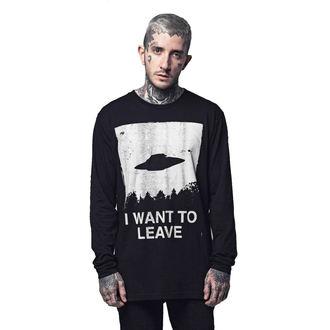 tričko s dlouhým rukávem (unisex) DISTURBIA - I WANT TO LEAVE, DISTURBIA