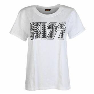 pyžamo dámské Kiss - Logo Infill Lady WHT/BL - ROCK OFF, ROCK OFF, Kiss