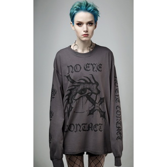 tričko s dlouhým rukávem (unisex) DISTURIBA - No Eye Contact - Charcoal, DISTURBIA