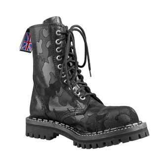 boty STEADY´S - 10 dírkové - Black camo - STE/10/MORO