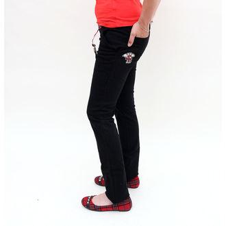 kalhoty dámské EMILY THE STRANGE - Emily Mad Youth Plaid Stoveppie Jeans - E1080902
