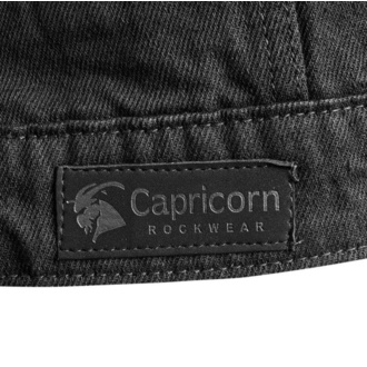 vesta pánská CAPRICORN ROCKWEAR - black with frayed arms - CAP006