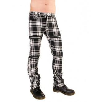 kalhoty dámské Black Pistol - Destroy Pants Tartan (Black/White), BLACK PISTOL