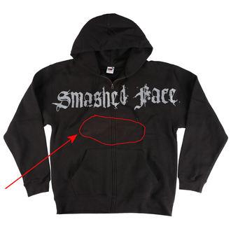 mikina pánská SMASHED FACE - Misanthropocentric - Black - 06 - POŠKOZENÁ, Smashed Face