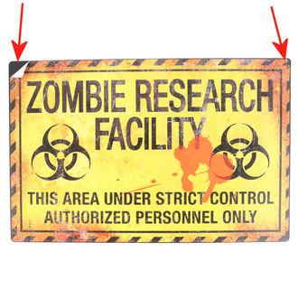 cedule Zombie Research Facility - D2677G6 - POŠKOZENÁ