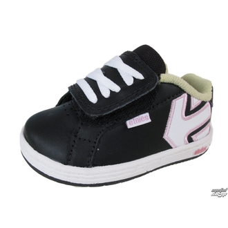 boty dětské ETNIES - Toddler Fader - BLACK/WHITE/PINK