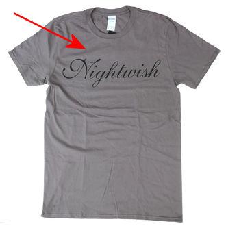 tričko pánské NIGHTWISH - Logo GREY - NUCLEAR BLAST - POŠKOZENÉ, NUCLEAR BLAST, Nightwish