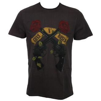 tričko pánské Guns N' Roses - SHOOTING ROSES - CHARCOAL - AMPLIFIED - ZAV210GRG