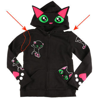 mikina dámská Cupcake cult - BLACK CAT - BLACK - POŠKOZENÁ, CUPCAKE CULT