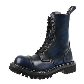 boty STEADY´S - 10 dírkové - Blue black - STE/10_blue/black