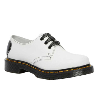 boty dámské DR. MARTENS - 1461 Hearts - white/black, Dr. Martens