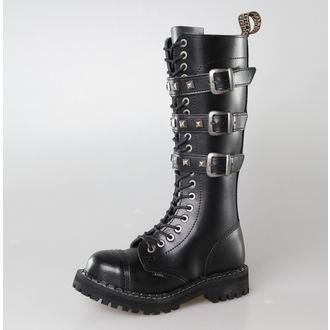 boty STEEL - 20 dírkové  139/140  BLACK 3P  PIRAMID
