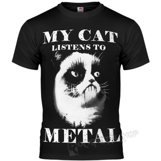 tričko pánské AMENOMEN - MY CAT LISTENS TO METAL, AMENOMEN