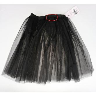 sukně dámská Poizen Industries - COR MIDI TUTU - BLACK - POŠKOZENÁ, POIZEN INDUSTRIES