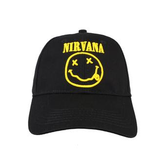 kšiltovka Nirvana - Logo & Smiley - ROCK OFF, ROCK OFF, Nirvana