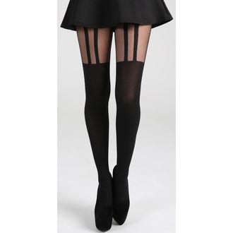 punčocháče PAMELA MANN - 2 Stripe Suspender - Black, PAMELA MANN