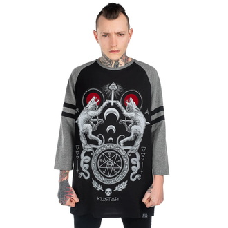 tričko s 3/4 rukávem unisex KILLSTAR - Varg Raglan - BLACK - KSRA001832