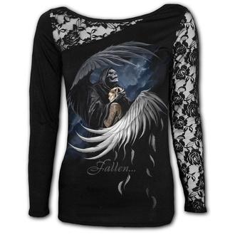 tričko dámské s dlouhým rukávem SPIRAL - FALLEN - Black, SPIRAL