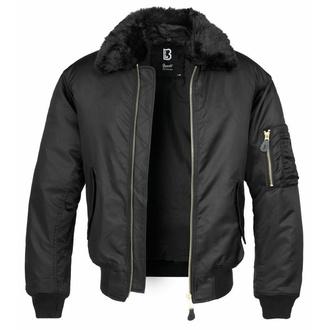 bunda pánská bomber (zimní) BRANDIT - MA2 Jacket Fur Collar - 3175-black