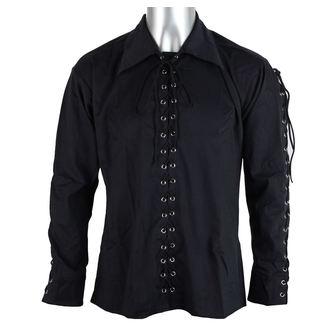 košile pánská Black Pistol - Eyelet Shirt Denim Black, BLACK PISTOL