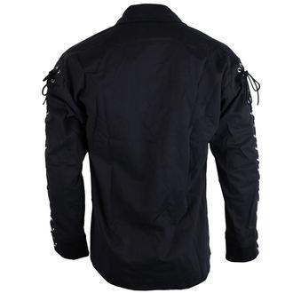 košile pánská Black Pistol - Eyelet Shirt Denim Black - B-3-07-001-00