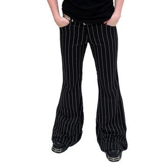 kalhoty dámské Mode Wichtig - Flares Pin Stripe Black-White - M-1-08-050-01