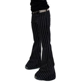 kalhoty dámské Mode Wichtig - Flares Pin Stripe Black-White, MODE WICHTIG