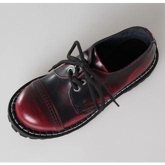 boty STEEL - 3 dírkové vínové (101/102 Red Black-Burgund)