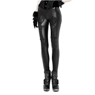 kalhoty dámské (legíny) PUNK RAVE - Black Soiree Gothic, PUNK RAVE