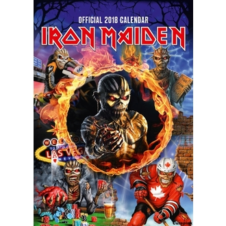 kalendář na rok 2018 IRON MAIDEN, Iron Maiden