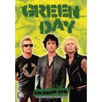 kalendář na rok 2018 GREEN DAY, Green Day