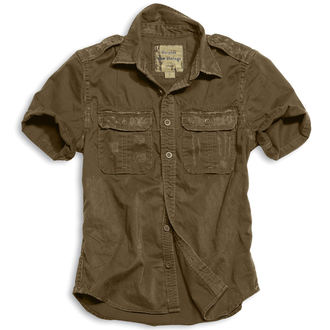 košile SURPLUS - 1/2 Vintage Shirt - HNĚDÁ - 06-3590-05