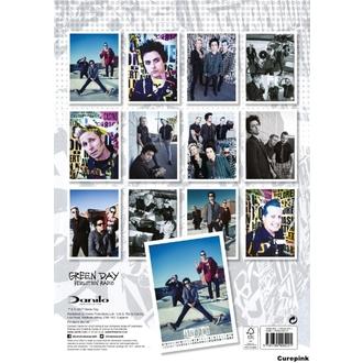 kalendář na rok 2018 GREEN DAY, NNM, Green Day