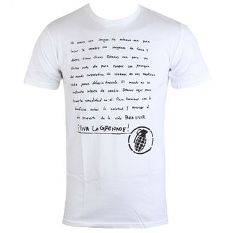 tričko pánské GRENADE - Manifesto Espanol - Wht
