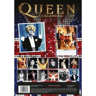 kalendář na rok 2019 - QUEEN, NNM, Queen