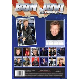 kalendář na rok 2019 - Bon Jovi, NNM, Bon Jovi