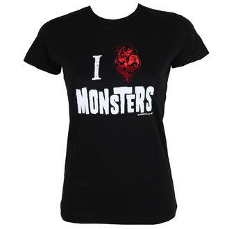 tričko dámské KREEPSVILLE SIX SIX SIX - Heart Monsters Foil Tee, KREEPSVILLE SIX SIX SIX