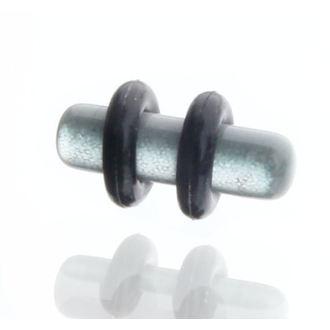 piercingový šperk tunel PLY 3mm - šedý, NNM